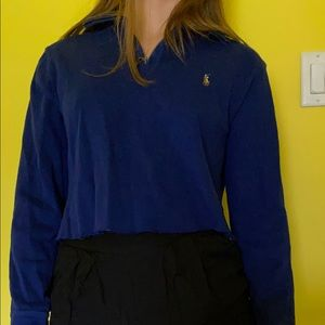 cropped v-neck Ralph Lauren sweater